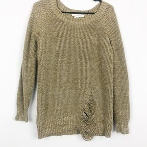 BCBGeneration Distressed Knit Sweater